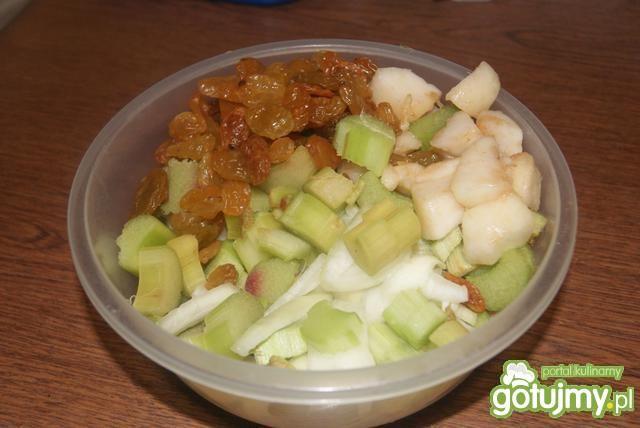 Chutney z  rabarbaru z gruszką