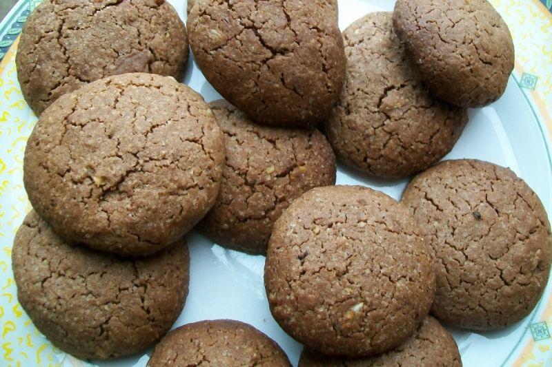 Ciasteczka czekoladowo-migdałowe