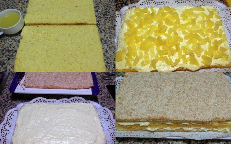 Ciasto ananasowe z kremem budyniowym i kokosem