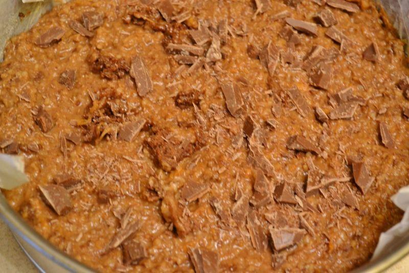Ciasto czekoaldowe z dynią i migdałami
