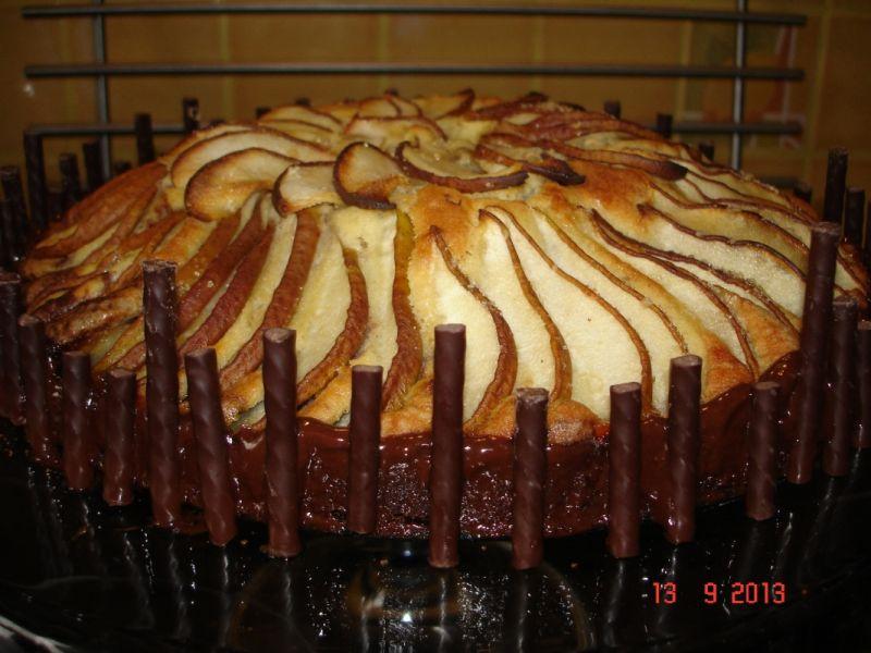 Ciasto czekoladowo-waniliowe z gruszkami