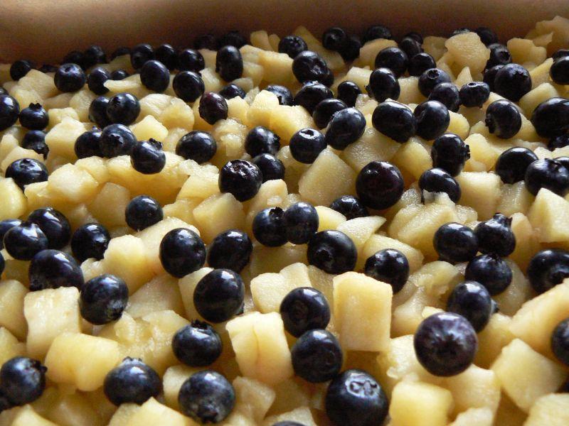 Ciasto drożdżowe pszenno-orkiszowe z owocami