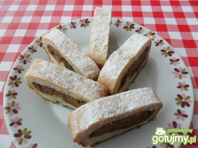 Ciasto drożdżowe z  piernikową wkładką