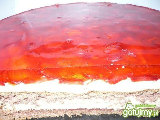 Ciasto kremowe z galaretką