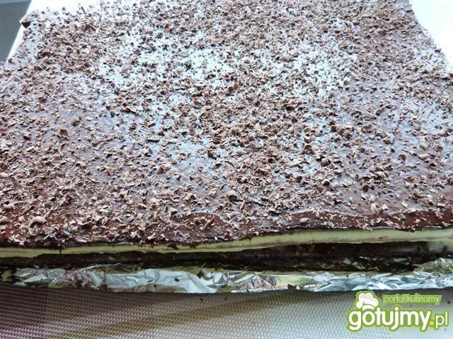 Ciasto przekładane gotowanym serem