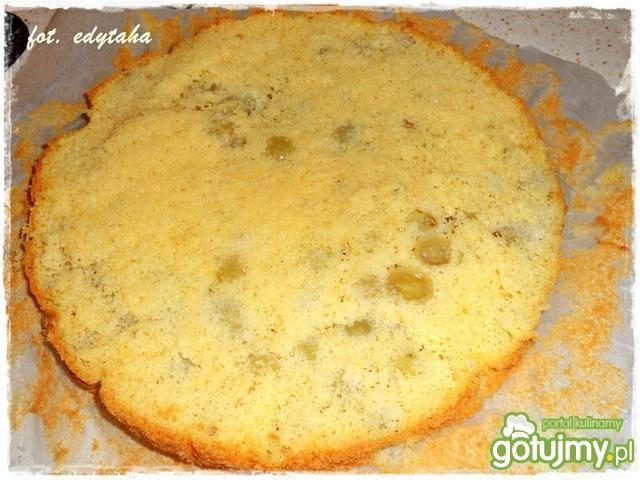 Ciasto winogronowe z agrestową masą