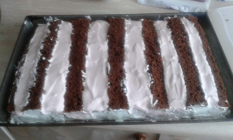 Ciasto wiśniowe z pianką