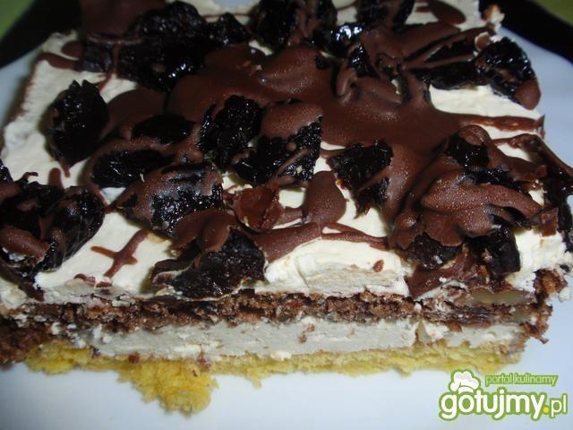 Ciasto  z czekoladą i pijaną śliwką