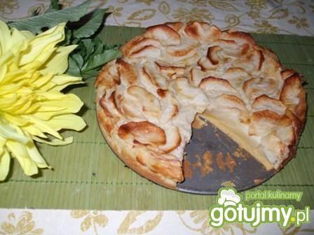 Ciasto z jabłkami na kaszy kukurydzianej