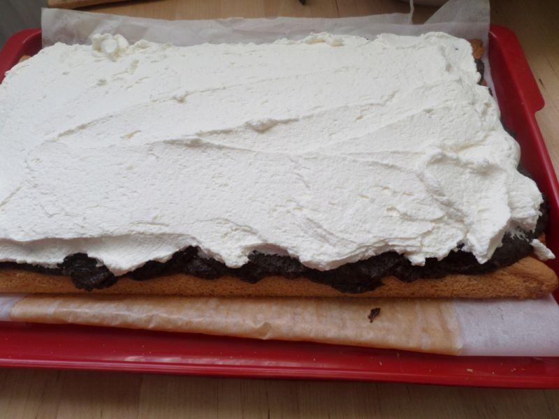 Ciasto z masą orzechową i makowa