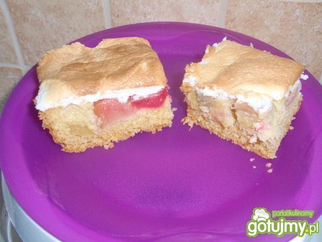 Ciasto z rabarbarem z pianką