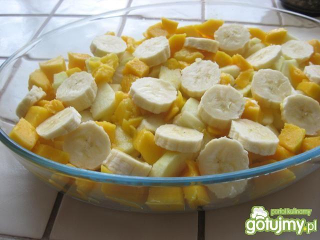 Crumble z mieszanki owoców