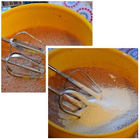 Czekoladowe naleśniki z serem i gruszkami