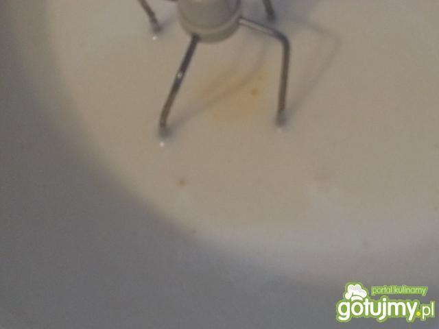 Czekoladowy biszkopt z kremem i polewą