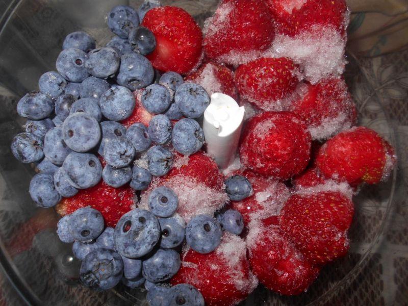 Delikatny sorbet owocowy