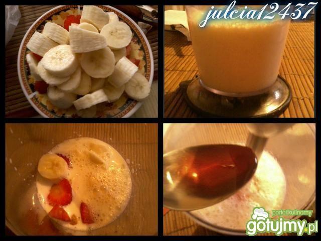 Deser bananowo-truskawkowy jak tiramisu