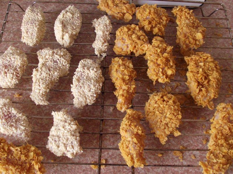 Dietetyczne nuggetsy w płatkach i sezamie