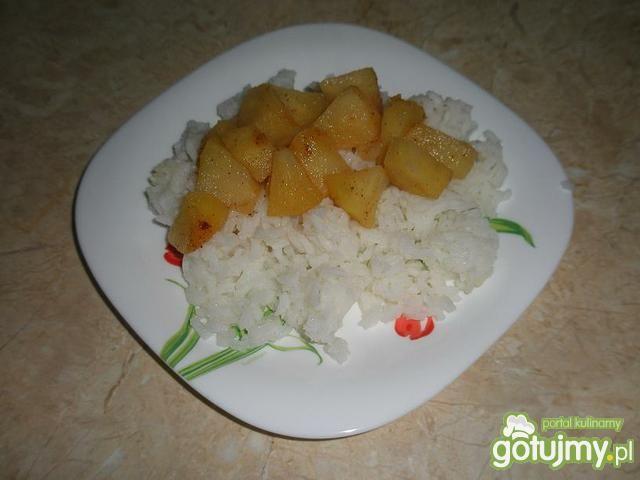 Dietetyczny ryż z jabłkiem