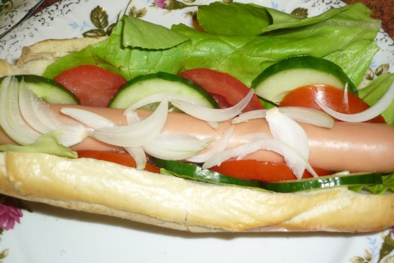 Domowy hot  dog