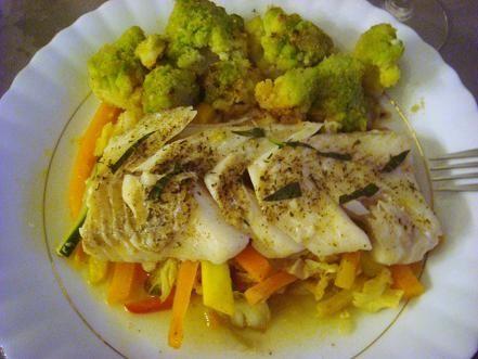 Dorsz z warzywami w papilotach