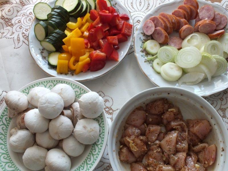 Drobiowo - warzywne szaszłyki z grilla