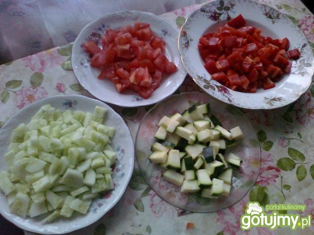 Duszone warzywa z patelni