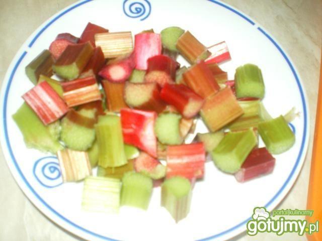 Duszone warzywa z rabarbarem