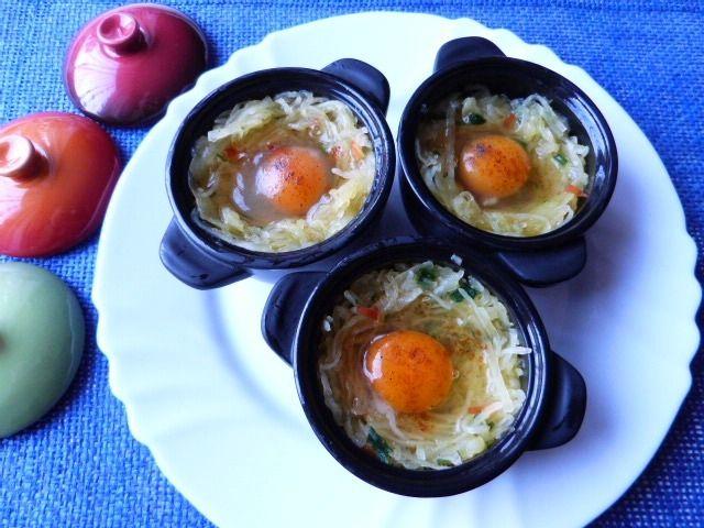 Dynia makaronowa zapiekana z jajkami