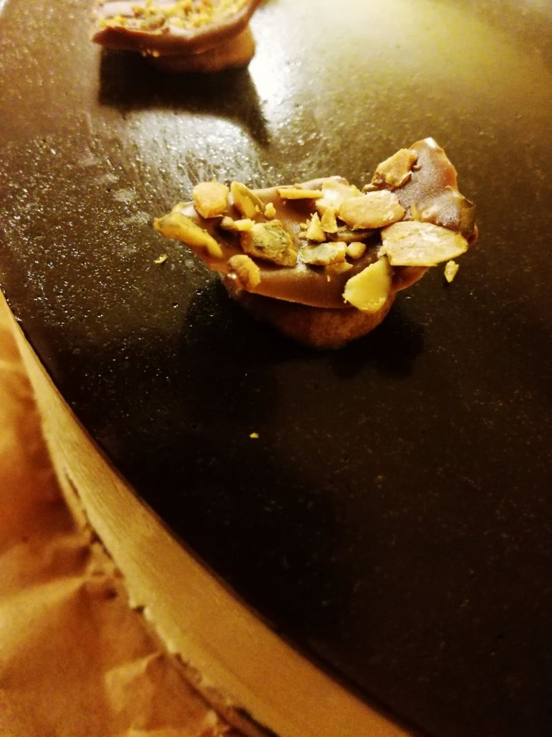 Dyniowe ciasto z malinową nutą i mussem waniliowym
