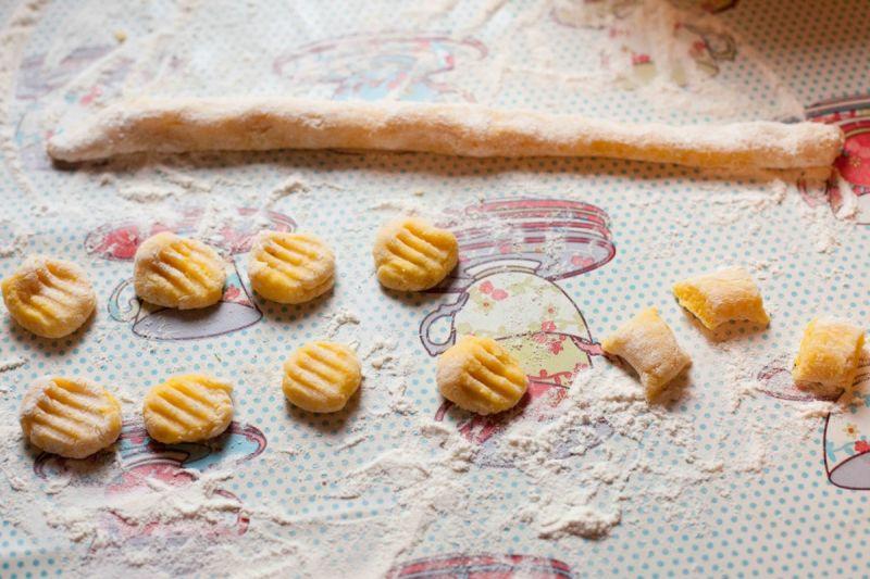 Dyniowo-ziemniaczane gnocchi z grzybami