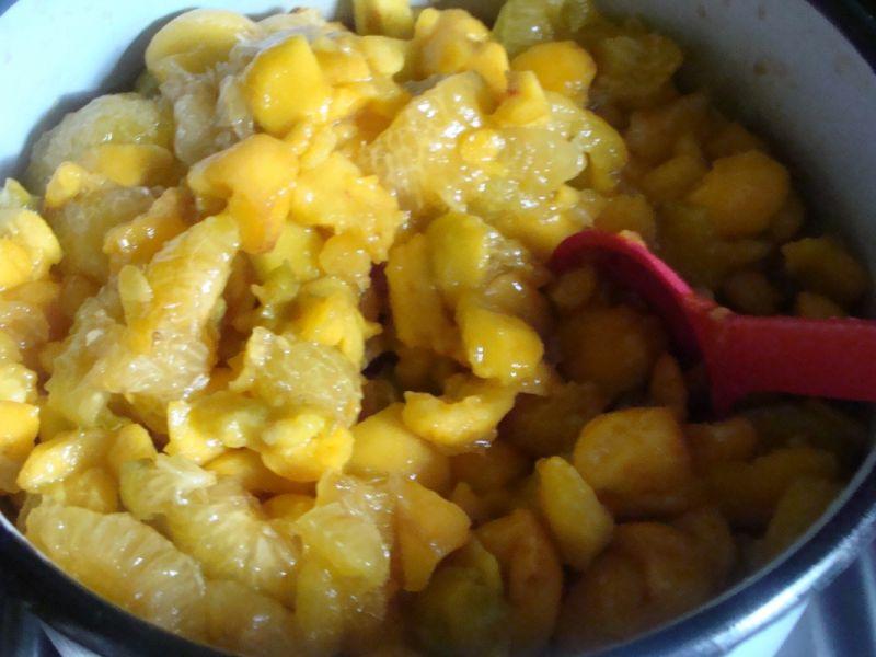 Dżem brzoskwiniowo-renklodowy