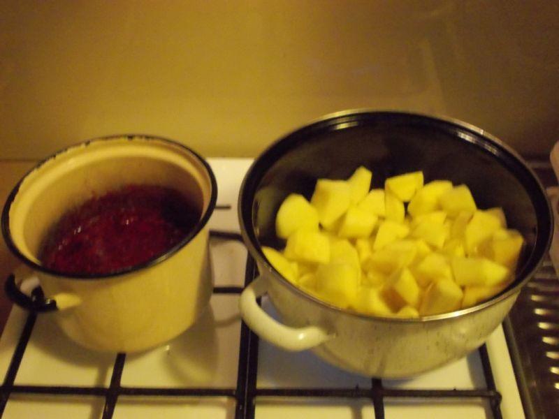 Dżem jabłkowo - malinowy