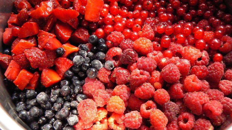 Dżem z malin i innych owoców