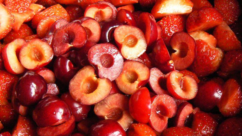 Dżem z truskawek i czereśni