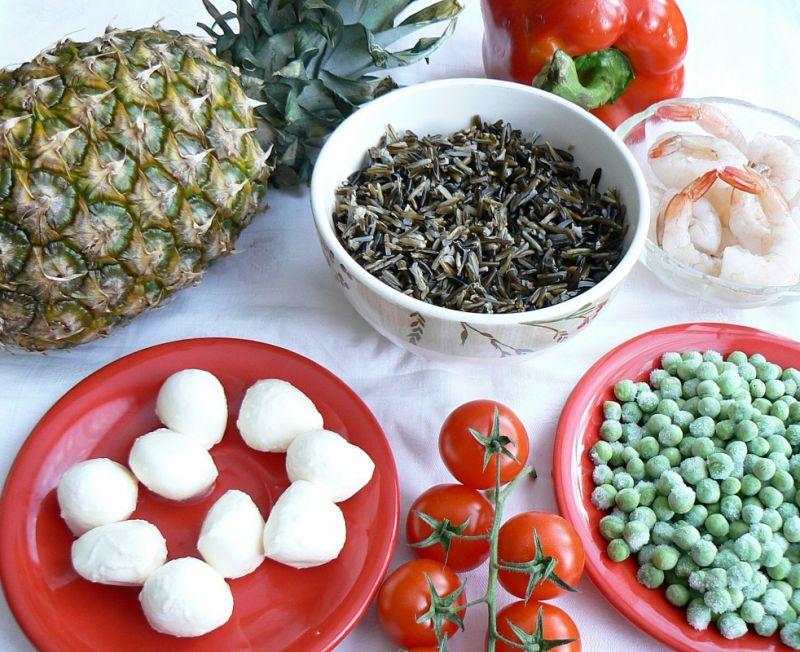 Dziki ananas z krewetkami