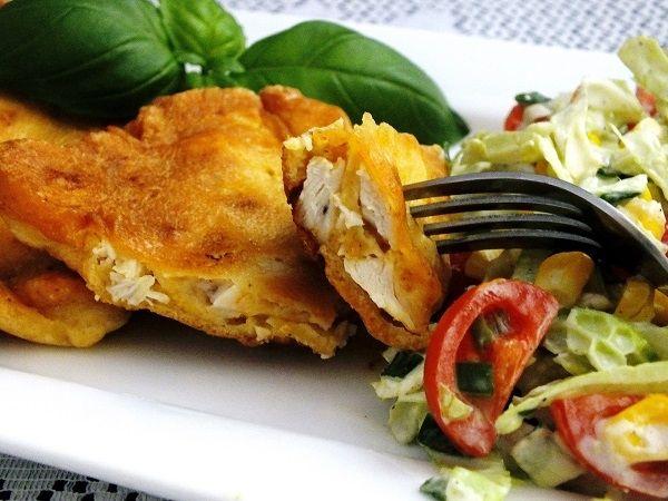 Filety z kurczaka w majonezowej panierce