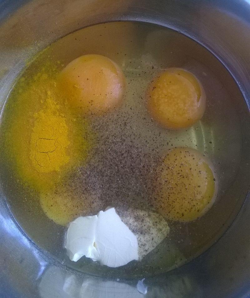 Gofry jajeczno - jaglane z warzywami