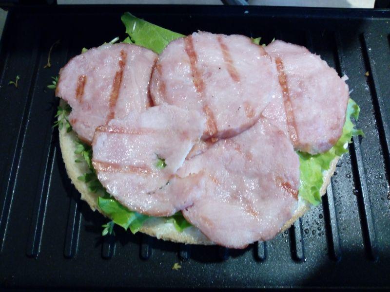Grillowana kanapka z rzeżuchą