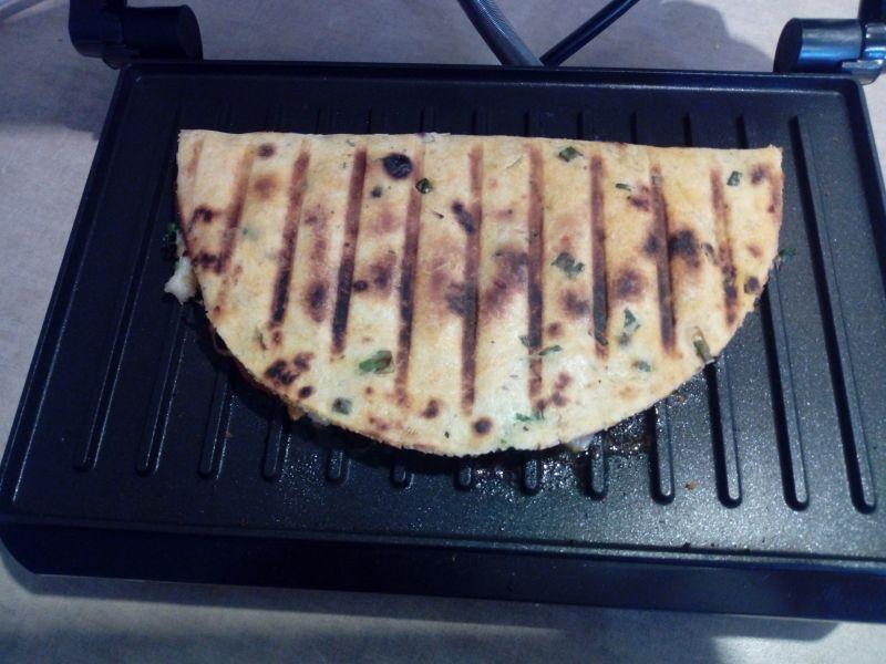 Grillowana tortilla ze schabem