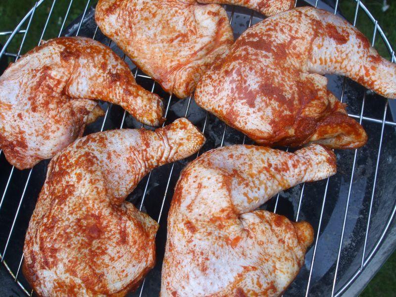 Grillowane paprykowe ćwiartki kurczaka