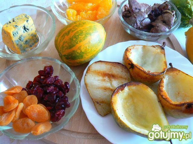 Gruszki z grilla z pomarańczą wątróbką