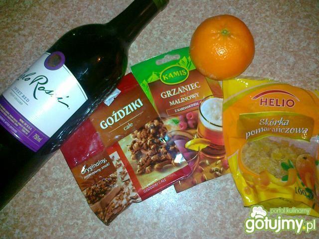 Grzane wino mandarynkowo - malinowe