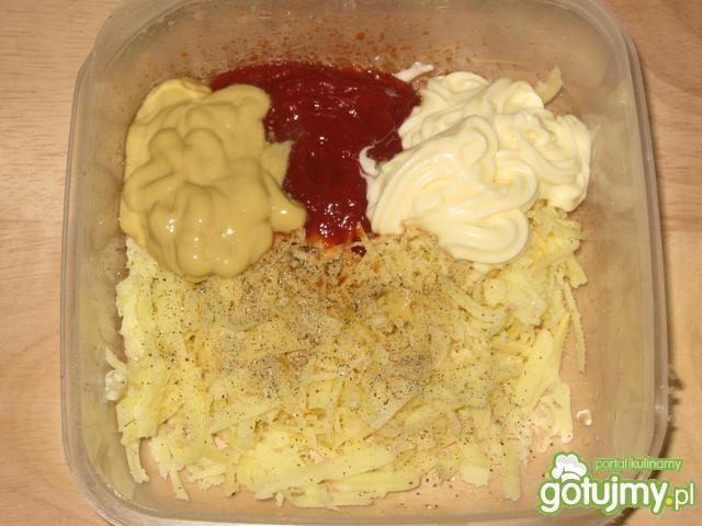 Grzanki serowe z ketchupem