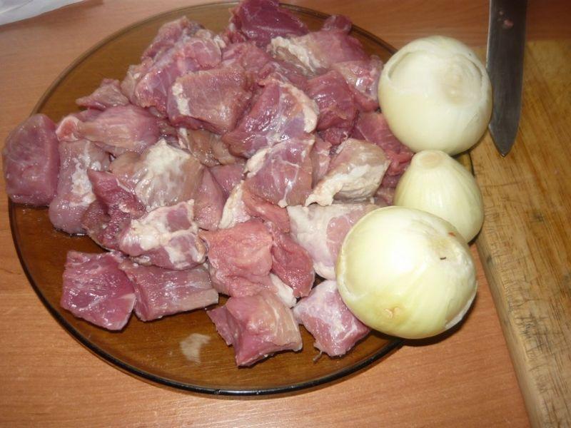 Gulasz wieprzowo - warzywny