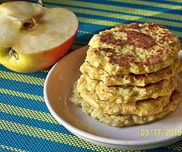 яблочные оладьи с овсяной мукой рецепт-хв3