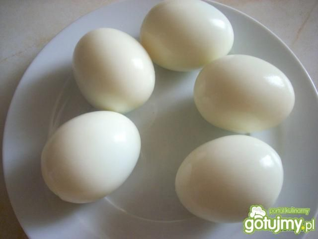 Jajeczka z farszem szynkowym