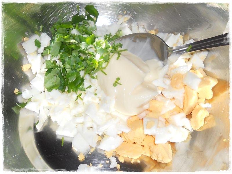 Jajka z majonezem i rukwią