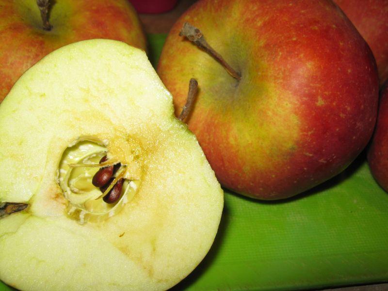 Kapusta z pomidorami i jabłkiem