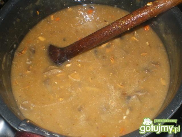 Kasza gryczana z sosem pieczarkowym 2