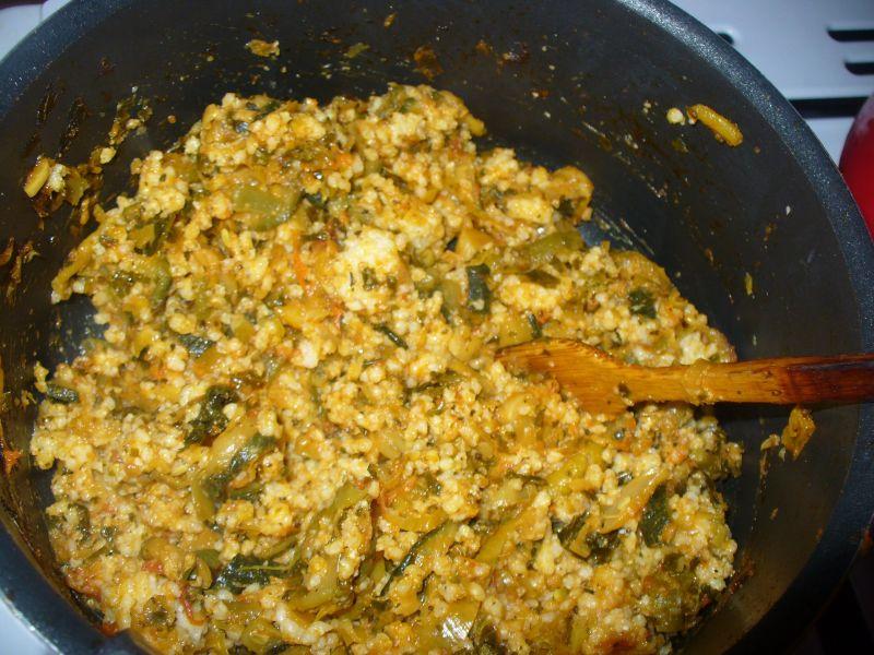 Kasza jaglana z cukinią i curry